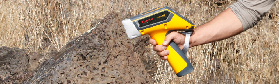 Portable XRF analyzers screens rock and soils for toxic elements.